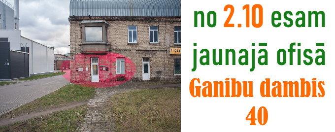 BUVVide.lv jaunais ofiss Ganību dambis 40, Rīga